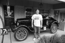 Photo by Oreta Wright. Will Head with his 1926 Ford Model T.